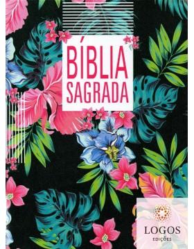 Bíblia Sagrada - NAA - letra grande - capa slim - flor preta. 7899938411988