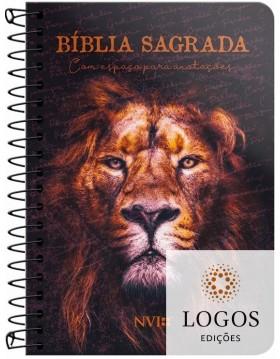 Bíblia Anote - NVI - letra grande - capa espiral - leão de Judá. 9786556550756