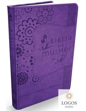 Bíblia da mulher de fé - NVI - roxo. 9788578608408