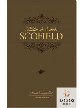 Bíblia de Estudo Scofield - ACF - capa PU luxo - castanha. 9788575571347