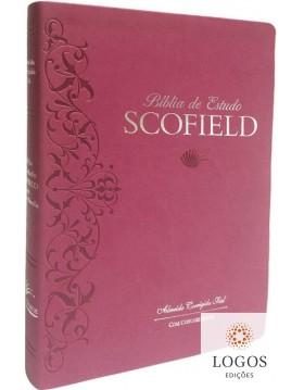 Bíblia de Estudo Scofield - ACF - capa PU luxo - rosa. 9788575571460