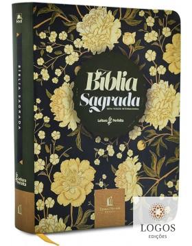 Bíblia Sagrada - leitura perfeita - NVI - com espaço para anotações - couro soft flores. 9786556890753