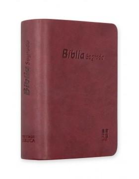 Bíblia de bolso - capa castanha