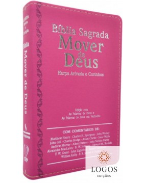 Bíblia Sagrada Mover de Deus - ARC - capa luxo - pink. 7908084608996