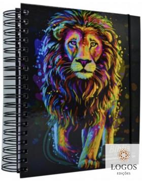 Bíblia Sagrada com Espaço para Anotações - ARC - letra grande - capa espiral - leão pintura inteiro. 7908084608682