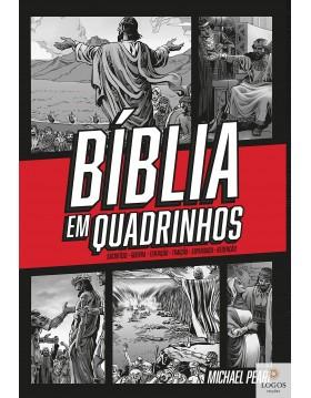 Bíblia em quadrinhos - a Palavra de Deus com aventura, ação e emoção - capa dura - vermelha. 9786556551357