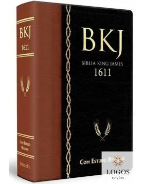 Bíblia de Estudo King James 1611 (com Estudo Holman) - capa castanha e preta. 9788581581880