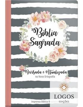 Bíblia Sagrada - revisada e atualizada - letra gigante - capa semi-luxo guirlanda floral. 9786556550657