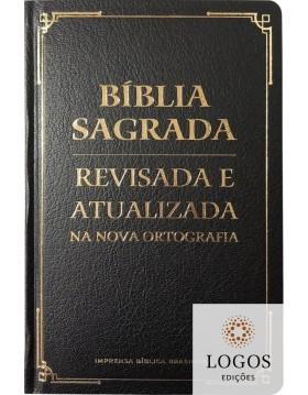 Bíblia Sagrada - revisada e atualizada - letra gigante - capa semi-luxo preta. 9786556550770