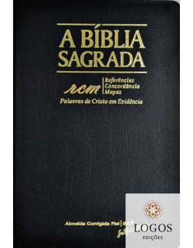 Bíblia Sagrada RCM - ACF - letra gigante - capa PU luxo - Preto. 7898572201764