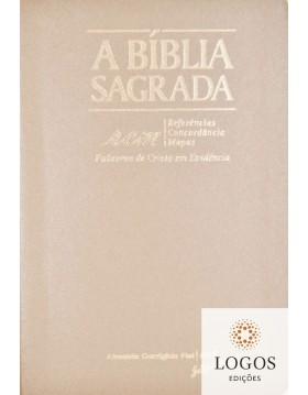Bíblia Sagrada RCM - ACF - letra gigante - capa PU luxo - Rosa gold com índice digital. 7898572202389