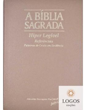 Bíblia Sagrada - ACF - hiper legível com referências - capa PU luxo - Rosa gold com índice digital. 7898572201801
