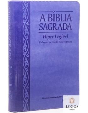 Bíblia Sagrada - ACF - hiper legível com referências - capa PU luxo - uva/lilás. 7898572201214