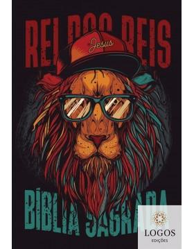 Bíblia Sagrada - NAA - capa dura soft touch - leão hip hop. 7908249101485