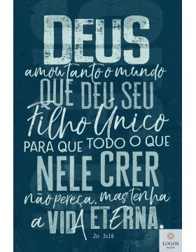 Bíblia Sagrada - NVT - capa dura - João 3:16 - azul. 7898665820506