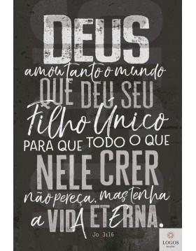 Bíblia Sagrada - NVT - capa dura - João 3:16 - chumbo. 7898665820513