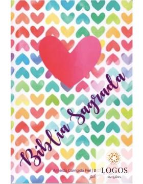 Bíblia Sagrada - ACF - capa dura - coração color. 7898572203195