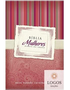 Bíblia Mulheres Diante do Trono - NVI - vermelha listras. 9788573259773