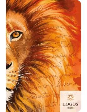 Bíblia Sagrada - ACF - letra grande - capa dura soft touch - leão laranja. 7908249102147