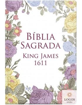 Bíblia King James Fiel 1611 - capa dura slim - flores coloridas. 9786556550725