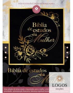 Bíblia de Estudos da Mulher - NVT - capa preta. 9781680436990