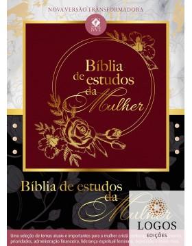 Bíblia de Estudos da Mulher - NVT - capa bordô. 9781680435993