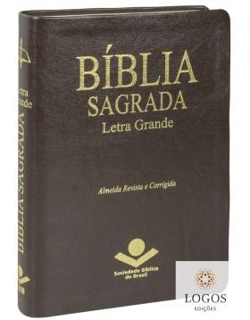 Bíblia Sagrada - ARC - letra grande - capa castanha. 7899938405444