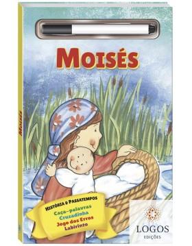 História bíblica e passatempos - escreva e apague - Moisés. 9788537632208