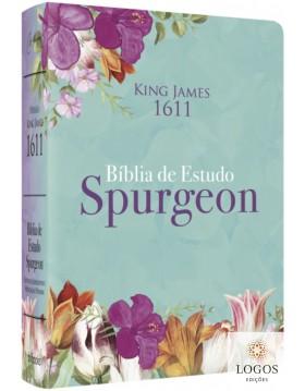 Bíblia de Estudo Spurgeon - King James 1611 - capa feminina. 9786586996326