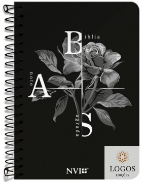 Bíblia Anote - NVI - letra grande - capa espiral - Flor de Inverno. 9786556551562