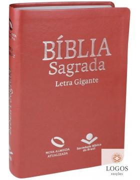 Bíblia Sagrada - NAA - letra gigante com índice digital - capa pêssego. 7899938404621. Nova Almeida Atualizada
