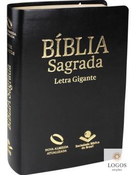 Bíblia Sagrada - NAA - letra gigante com índice digital - capa preto nobre. 7899938406274