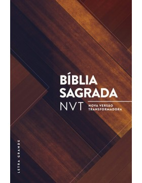 Bíblia Sagrada - NVT - capa dura com letra grande - Madeira triângulos
