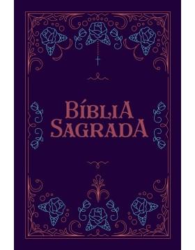 Bíblia Sagrada - NVT - capa semi-flexível com letra grande e beiras pintadas - soft touch - Ornamentos